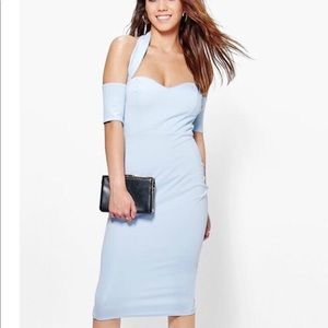 brand new with tags light blue sweetheart dress!